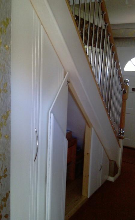 Under Stair Doors : Wardrobe doors replacement fitted